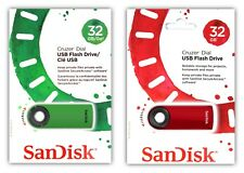 2x SanDisk USB Cruzer Dial 32GB SDCZ57-032G Flash Drive 32 GB - MIX 32G