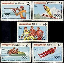 CAMBODGE Kampuchea N°407/411** JO 1983, CAMBODIA Sc#441-445 Olympic games MNH