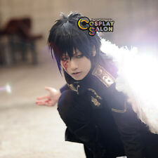 """12"""" Black Anime For Angel Sanctuary Lucifer Men Layered Basic Party Cosplay Wig"""