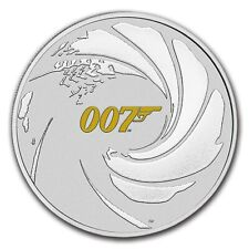 TUVALU 1 Dollar Argent 1 Once James Bond 007 2021