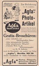 Agfa-PHOTO-Articolo pubblicitario da tavola per la vetrina del 1920