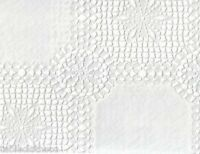 WHITE CROCHET LACE VINYL PVC  OILCLOTH WIPE CLEAN TABLECLOTH CO click for sizes
