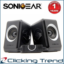 Computer Speakers SonicGear Quatro 2 USB Powered Bass Loud Style Speakers Grey