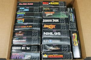 Lot of 20 Empty SNES Super Nintendo Game Boxes ONLY