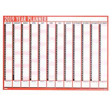 2019 A1 Large Year Wall Planner Flat Calendar Office Organiser 2019