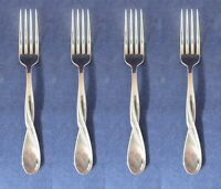 SET OF FOUR - Oneida Stainless Flatware AQUARIUS (GLOSSY) Dinner Forks NEW