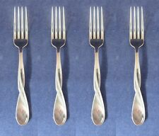 SET OF FOUR - Oneida Stainless AQUARIUS (GLOSSY) Dinner Forks NEW