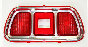 NEW 1971 - 1972 - 1973 Ford Mustang TAIL LIGHT BEZEL AND LENS Price is Each