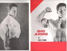 Reg Park bodybuilding muscle booklet Big Arms 30 pgs Reprint 2013