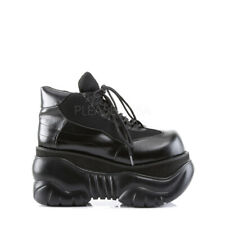 """PLEASER Demonia Boxer-01 4"""" PF Cyber Lace Up Sneaker Shoes Vegan Leather"""