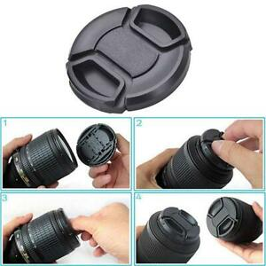49mm Lens Cap center pinch snap on Front Cover string L0Z1 for Canon Nikon