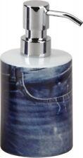 Seifenspender Flüssigseife Seife Lotionsspender Keramik blau Jeans Muster