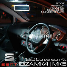 SEAT IBIZA MK4 MK5 LED UPGRADE KIT ERROR FREE PURE XENON WHITE INTERIOR REVERSE