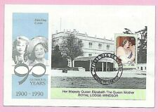 GRENADINES of St Vincent 1991 FDC - QUEEN MOTHERS 90th BIRTHDAY M/s  Fdi BEQUIA