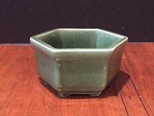 Vintage Haeger Pottery 4002 Green Planter Bowl made in USA