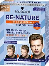 Schwarzkopf RE-NATURE FOR MEN - Anti Gray Hair Natural Coloring Kit BLOND/BROWN