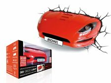 3D FX DECO LIGHT -  RED SPORTS CAR LOOKS LIKE CAR CRASHED THROUGH WALL BRAND NEW
