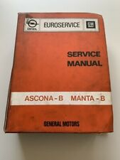 Opel Manta B Ascona B service workshop manual Euroservice