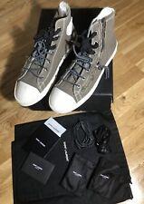 """YSL Saint Laurent Canvas """"RIVINGTON"""" Military Zip Mid Top Sneakers Shoes Sz 45"""