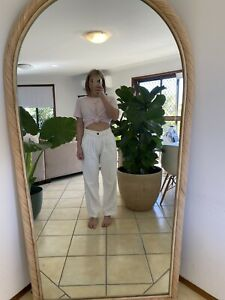 White Glassons Corduroy Jeans Size 8