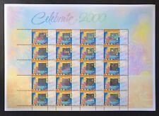 Australia Celebrate 2000 Hologram Stamp Sheet Mnh Holographic Fireworks