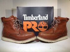 """Timberland Pro Mens Size 13 Wedge 6"""" Brown Leather EH Safety Work Boots ZI-1413"""