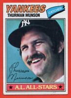 1977 Topps #170 Thurman Munson VG-VGEX+ WRINKLE New York Yankees FREE SHIPPING