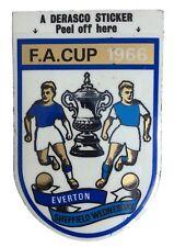 UNUSED EVERTON v SHEFFIELD WEDNESDAY FA CUP FINAL 1966- DERASCO FOOTBALL STICKER