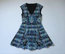 NWoT Nanette Lepore Painterly Floral Print Stretch Fit & Flare Dress 8