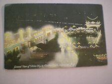 Birds-Eye-Night-View WHITE CITY SYRACUSE by Electric Light amusement park 1907