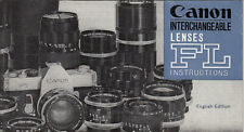 Canon Instrictions Canon FL Lenses # wi