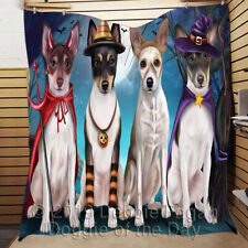 Personalized Halloween Trick or Treat Rat Terrier Dogs Pet Lovers Quilt