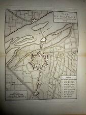 41 - CARTE MAP PLANS Campagne ITALIE 1745 & 1746  GUASTALLE  1775