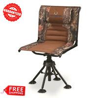 Rotating Hunting Blind Chair 360 Swivel Camo Foldable Portable 300 lbs. Capacity