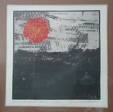 Eric Bellman Print Maker Artist Signed Hand Made Etching #4 of 4 New Mexico Sun