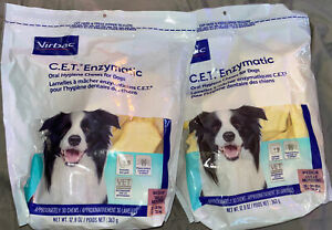 2x CET Enzymatic Oral Hygiene Chews for MEDIUM Dogs 26-50 Pounds NEW!