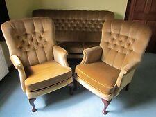 Vale ' Napoli ' 3 piece suite & footstool