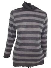 conbipel maglia donna righe grigio collo lato taglia xl extra large