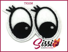 ECUSSON THERMOCOLLANT YEUX oeuil cils regard noir blanc patch thermofix fashion