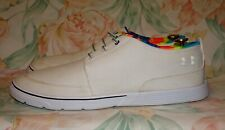 Men's White Canvas UNDER ARMOUR  Loafers Size 12 M  GREAT Condition