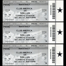 Club America -vs- San Luis Ticket - Dallas Cowboys, Texas Stadium In Irving