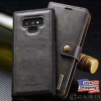 For Samsung Galaxy Note 10/9/8 Plus Leather Removable Wallet Magnetic Case Cover