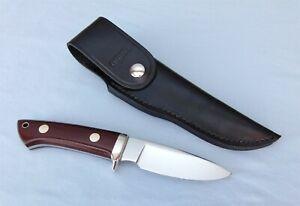"""VTG Khyber / Ka-bar 2650 """"Loveless"""" style hunting knife w/sheath, box Japan 1978"""