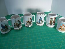 1985-1987 Norman Rockwell Museum Coffee Mugs Cups Set of 6