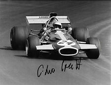 Chris Craft signé 10x8 Ecurie Evergreen Brabham BT33, USA GP Watkins Glen 1971