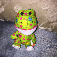 """BUILD A BEAR WORKSHOP MINI FRIENDLY SWEETHEART GREEN FROG 4"""" MCDONALD'S MEAL TOY"""