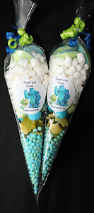 Monsters Inc. Party Bags Personalised Pre Filled Goody Cones  Birthday Sweets