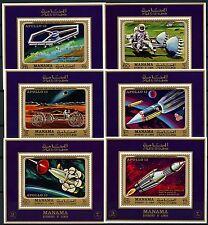 Raumfahrt Space 1970 Manama Apollo 13 Weltraum  291-296 Einzelblocks MNH/846
