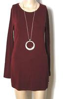 JONES Shirt Gr. 38 wein-rot Langarm Strech Long Damen Shirt/Langarmshirt