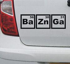 BaZnGa - Bazinga #1 vinyl decal sticker Big Bang Theory - DEC1135
